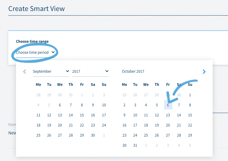 Smart View choose a timeframe