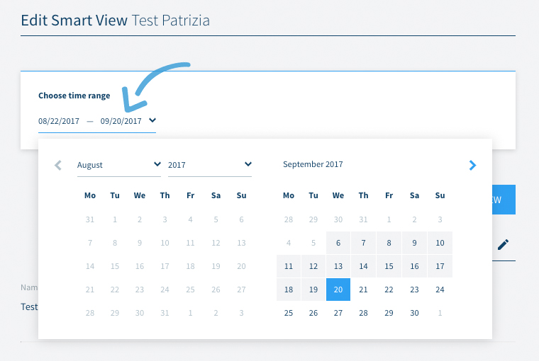 Smart View editing the date range