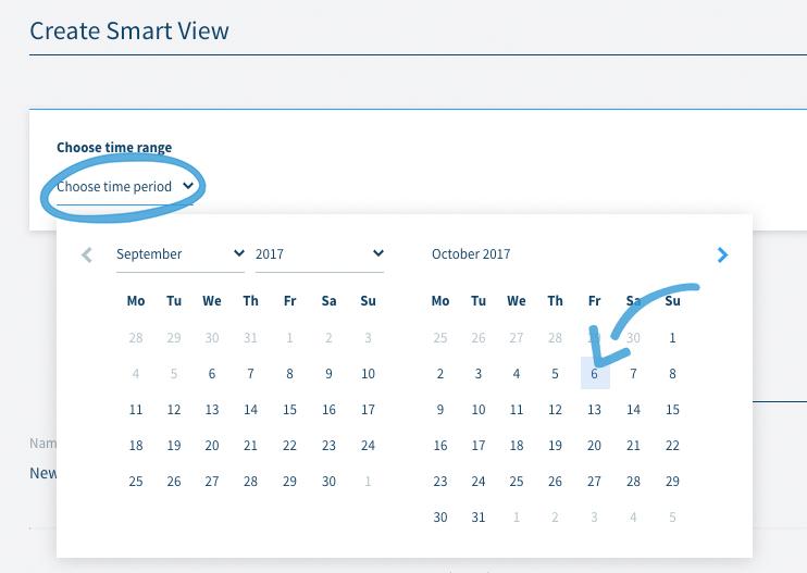 Smart View Zeitfensterauswahl